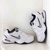 NIKE Air Monarch  New fashion hook running couple shoes White