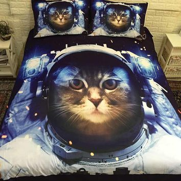 3D Cat Kawaii Bed Linen Bedding Sets Comforter Bed Cover Quilt Cover Duvet Cover Set Queen King Size Bedding Double Bed Sheets