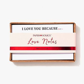 I Love You Because Cards - 2x3.5