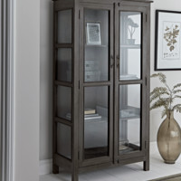Black Iron Display Cabinet - Tall