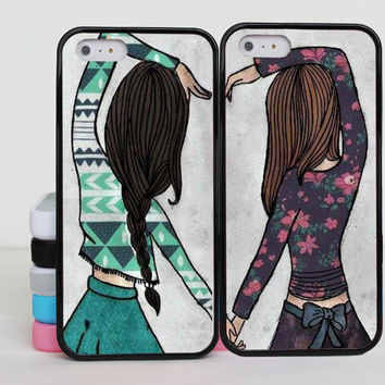 Sisters forever iphone 5 case Best Friend iphone 6 case iphone 5c case Couples lover for iphone 6 5 5s 5c 4 4s case cover skin case