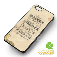 Winnie The Pooh Quote Vintage - azia for  iPhone 4/4S/5/5S/5C/6/6+,Samsung S3/S4/S5/S6 Regular/S6 Edge,Samsung Note 3/4