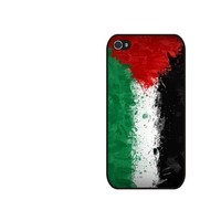 Palestine Flag iPhone 4 and iPhone 4S Case Hard Plastic Case,Rubber Case