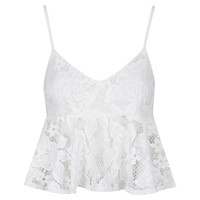 **Lace Peplum Top by WYLDR - New In
