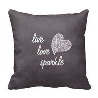 Live love Sparkle with Glitter heart