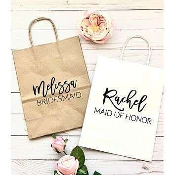 Personalized Gift Bag - Custom Gift Bag-Bridesmaid Gift Bag-Bachelorette Party Gift Bag-Bridesmaid Bag - Personalized Bag- Wedding Gift Bag