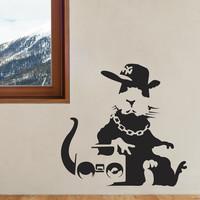 Banksy Fly Rat Wall Decals