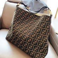 Fendi  Fashion New More Letter Canvas Shoulder Bag Handbag Crossbody Bag