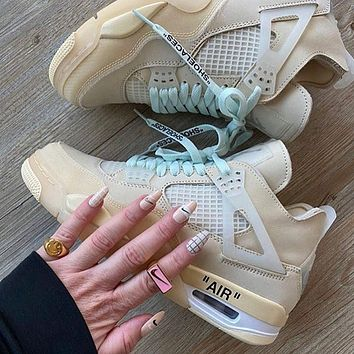 OFF-WHITE x Air Jordan 4 Sail OW Sneaker