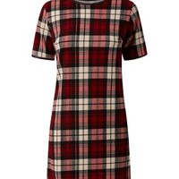 Cameo Rose Red Check Tunic Dress