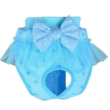 Lovely Bow Hygienic Short Pants Pets Sanitary Underwear Cotton Blend Physiological Panties Briefs For Dogs Cats Hot