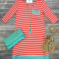 Colors of Spring Tunic Dress