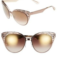 Jimmy Choo 'Estelle' Metal Cat Eye Crystal Lace 55mm Sunglasses | Nordstrom