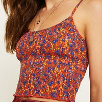 UO Ditsy Floral Smocked Cami | Urban Outfitters