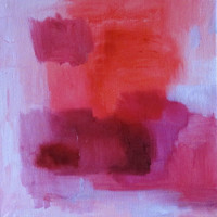 """Original abstract oil painting 20 cm x 20cm (8"""" x 8"""") No. 23, by Romany Steele"""