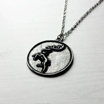 House Baratheon of Storm's End Crest Pendant Necklace - Game of Thrones Cosplay - Game of Thrones Jewelry - Ours Is The Fury - GoT pendant