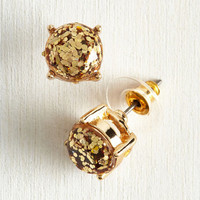 Glitter and Glee Earrings in Gold by ModCloth