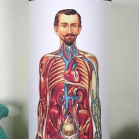 Human Muscles and Organs PAPER TABLE LAMP by czechpub on Etsy