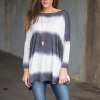 Rising Tides Top, Gray