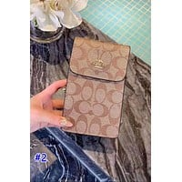 Coach hot seller of women's printed multi-style mobile phone bags #2