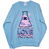 ToastyCo. Clothing! Cute Clothing that comes with free skittles!— LOVE POTION Sweatshirt - BB BLU