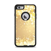 The Gold Unfocused Sparkles Apple iPhone 6 Plus Otterbox Defender Case Skin Set