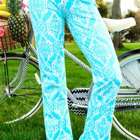 All Summer Long Pants-Aqua