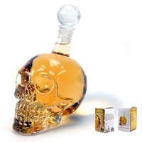 New 500ml Crystal Skull Head Vodka Whiskey Shot Glass Bottle Drinking Home Bar