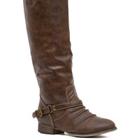 Buckle Up Boots - Brown