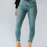 Free People: Raw High-Rise Skinny (Sierra)