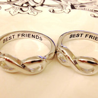 Infinity Ring, BEST FRIENDS RING,Same Day Shipping  Infinity Sister, bff, Best Friends, Sisters Infinity ring, Forever Friends Ring,