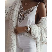 Plunging Lace Cami
