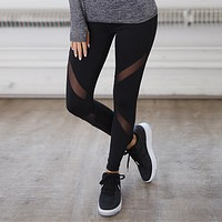 Women's Fashion Hot Sale Plus Size Hollow Out Yoga Sports Leggings