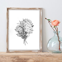 Vintage Flower Canvas Art Print Painting Poster, Wall Picture for Home Decoration, Wall Decor CM030-4-14
