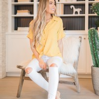 Canary Front Tie Top