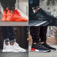 2017 NMD Runner R1 Again Triple black White red pk 3M Primeknit Men Women nmds boost Running Shoes sports Shoes Sneakers eur 36-45