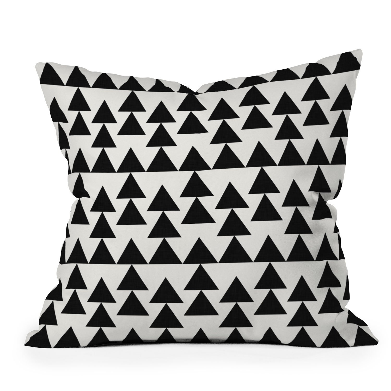 Image of Holli Zollinger Triangles Black Throw Pillow
