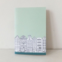 Small Amsterdam journal - mint green notebook - A6 notebook