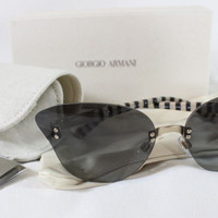 "~~~ THE CAT'S MEOW! ~~~ NEW GIORGIO ARMANI STRIPED-DETAIL ""CAT EYE"" SUNGLASSES"