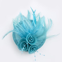 THREE FLORAL FEATHER PIN AND BROOCH