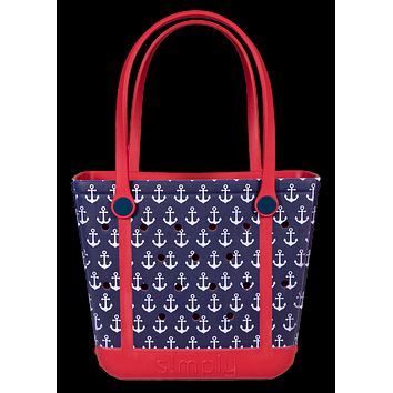 Simply Southern Small Anchor Beach Waterproof Washable Tote Bag