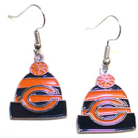 Chicago Bears Knit Hat Earrings