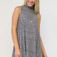 Salt & Pepper Lined Sleeveless Dress