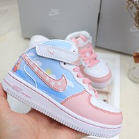 NIKE Air force No.1 Middle helping children's sneakers