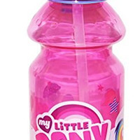 Zak! Designs Tritan Water Bottle with Flip-up Spout with My Little Pony Graphics, Break-resistant and BPA-free plastic, 14 oz.