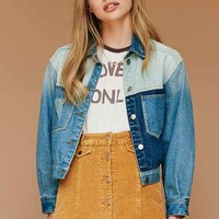 UNIF Denim Colorblocked Jacket