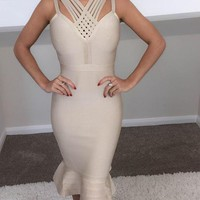 Runway Bandage Dress Bodycon Sexy Mermaid Dress