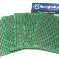 microtivity IM415 Double-sided Prototyping Board (5x7cm, Pack of 5)
