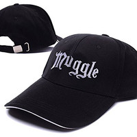 JRICK Harry Potter Muggle Logo Adjustable Baseball Caps Unisex Snapback Embroidery Hats