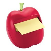 Post-it Pop-up Notes Dispenser for 3 x 3-Inch Notes, Apple Shaped Dispenser, Includes 1 Canary Yellow Note